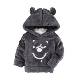 China 2018 New Children Baby Clothing Boys Girls Cute Bear Furry Tops Coat Autumn Winter Kids Thick Hooded Plush Long Sleeve Sweaters supplier furry clothing suppliers