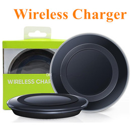 Wholesale Qi Wireless Charger Pad For iPhone X Wireless Charging Cord For Samsung Note iPhone Galaxy S8 with USB Cable Retail Box