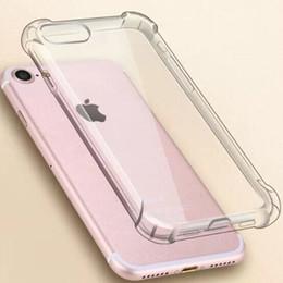 Super anti-knock suave tpu transparente limpar phone case capa proteger à prova de choque casos macios para iphone 6 7 8 plus x com saco de opp em Promoção