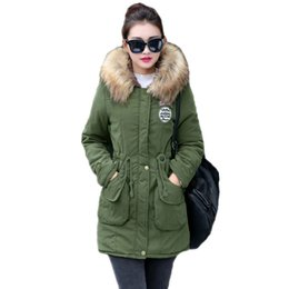 dark green parka jacket Australia - New Long Parkas Female Womens Winter Jacket Coat Thick Cotton Warm Jacket Womens Outwear Parkas Plus Size Fur Coat 2018 S18101202