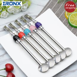 $enCountryForm.capitalKeyWord NZ - IRONX 304 Stainless Steel straws Yerba Mate Bombilla Gourd reusable bombilla Drinking Straws Filtered spoon straw
