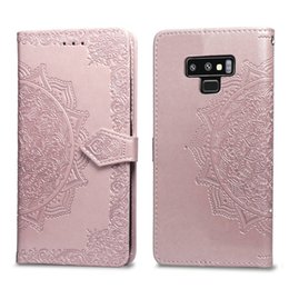 Leather Case Iphone Id Australia - Datura flowers Wallet Leather Cases Lotus pattern case For Iphone X XR XS MAX 8 7 6 6S Galaxy Note 9 J4 J6 2018 EU S9 ID CARD Slot Lace