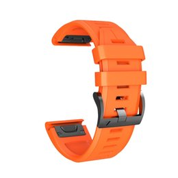 Wholesale Sport Silicone strap For Watches band MM Silicone Quick Release Easy Fit Wirstband Replacement For Garmin Fenix X