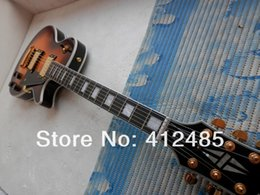 ElEctric guitar shipping box online shopping - new les Custom Electric Guitar Honey MS burst Ebony fingerboard Mahogany Foam box packaging with hardcase