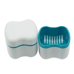 China Dental Materials Tooth Box Funnel Denture Case False Teeth Cleaning Container White Medical Equipment Hot Sale 3 5wd gg cheap clean pc case suppliers
