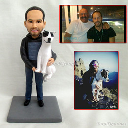 Wedding Groom Figures NZ - personalized gifts for father gift boyfriend Personalized Date Name Wedding Cake Topper Groom and Bride Action Figures clay doll