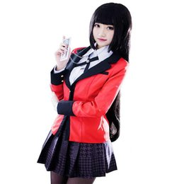 China Anime Kakegurui Yumeko Jabami Cosplay Costume Japanese High School Uniform Halloween Party Cosplay Costumes For Women Girls cheap japanese costumes for girls suppliers