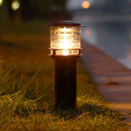 Light straw hats online shopping - BE134 European cm cm Aluminum Outdoor Courtyard Garden LED Lawn Lamp Straw Hat LED Street Lights Waterproof Household Landscape Lighting