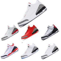 reputable site 10082 33721 Nike Air Jordan Retro 3 3s 2018 neu kommen 3 3s Basketball Schuhe blau  Cyber Montag Feuer rot Wolf grau schwarz Zement Wolle Sport Sneaker Größe  8-13