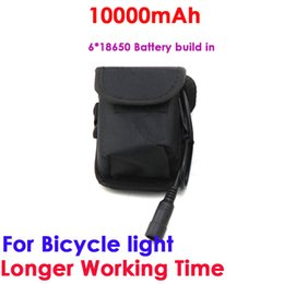 lit pack Australia - Waterproof Battery Pack Li-ion Rechargeable 10000mAh Storage 8.4 v 6 x18650 Battery pack for Headlight Bike bicycle light
