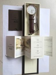 2018 famoso marchio Daniel donne mens orologi Wellington's moda in pelle stile 40 / 36mm oro rosa uomo donna orologi con scatola regalo relojes in Offerta