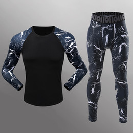 Leggings Tight Suit NZ - 3D print Long sleeved Leggings Tights Mens Long Sleeved sportswear lightning fitness clothes male suit