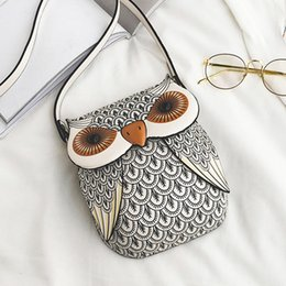 Discount cute black hand bags - Cartoon Printing Owl Women Messenger Bags Cute Girls purse small Shoulder bag ladies hand bags crossbody bag bolsa femin