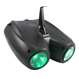 Красочные RGBW Pattern Stage Light 20 Вт 128LED Двойной Головкой Дирижабль Проектор Лампа для DJ Party Effect Свадебный Клуб Событий на Распродаже