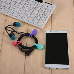 Clip Headphones For Iphone NZ - 2018 Newest Magnetic earphones Winder Magnet Earphone Headphone Cord Wire Holder Organizer Lavalier Clips Cable Winder