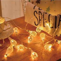 $enCountryForm.capitalKeyWord Australia - 20 leds String Light Battery Operated Christmas Garland Light Fairy Xmas Wedding Festival Home Decoration hollow pendant