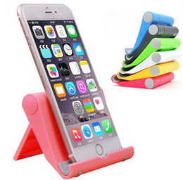 Wholesale Universal Foldable Stand Holder Portable Desktop Adjustable Bracket Lazy Mount Holder for iphone Samsung HTC Cell phone