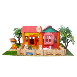 Build Toy House UK - Handcrafts Miniature Project DIY Dolls House Garden Yard Building Model Kids Hands-on Toy Birthday Gift