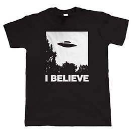 11c879790 I Believe Mens UFO T Shirt - Sci-Fi Alien - Gift for Dad Quality T Shirts  Men Printing Short Sleeve O Neck T-Shirt
