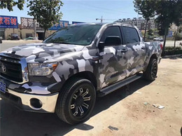 $enCountryForm.capitalKeyWord Australia - Arctic White black gray Camouflage Vinyl For Car Wrap styling Camo Covering Film with air release   Bubble Free Size 1,52x10m 20m 30m Roll