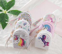 Cartoon Wallets For Girls Australia - Cartoon Unicorn coin purses Kids Children wallets small cute kawaii card holder key money bags for girls ladies purse