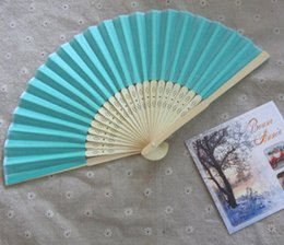 quality folding fans Australia - Hot sell 200pcs lot Art Handmade Chinese Silk Folding Bamboo Hand Fan Fans wedding fans Free shipping with good quality