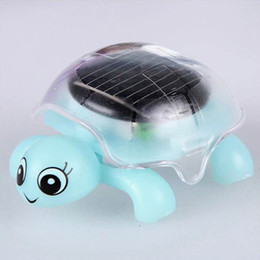 Discount educational gadgets for kids - Wholesale- 4 Colors Mini Solar Powered Energy Move Turtle Cute Tortoise Gadget Gift Educational Toy For Kids Gifts