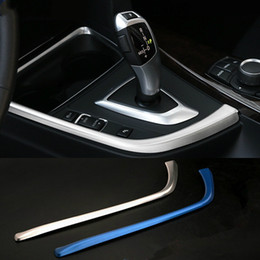StainleSS panel online shopping - Stainless Steel Car Center Console Armrest Trim for BMW series GT F30 F32 F34 Central Gearshift Panel Decorative Strip Sequins