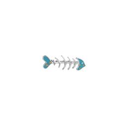 Chinese  Fashion Cartoon Enamel Brooch Pins Cute Fish Bone Badge Brooch Coat Sweater Lapel Unisex Child Women's Clothing Decorate manufacturers