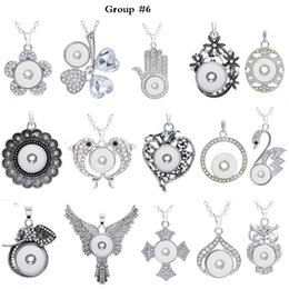 $enCountryForm.capitalKeyWord NZ - 12 Group Noosa Assorted Ginger 18mm Snap Buttons Chunk Charms Crystal Heart Round Animal Multi Pendant Necklaces Snap Jewelry