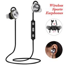 Wireless Noise Cancelling Ear Headphones Canada - CSR 4.1 Wireless Sports Earphones X9 Portable Neckband Noise Cancelling Stereo Headphones Headset In Ear Microphone Running Bluetooth 4.0