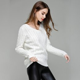 54c672517cd40d Discount white cropped sweater - Autumn winter women sweaters and pullovers  korean style long sleeve casual