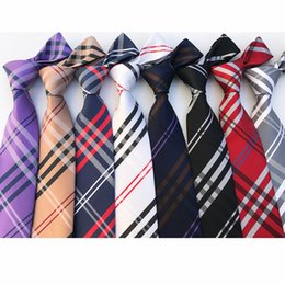 Luxury Design Plaid Style Neck Ties For Men Wedding Business Practical Neckties Fashion Casual Cravat Friend Birthday Gifts 20 87mz Z NZ246