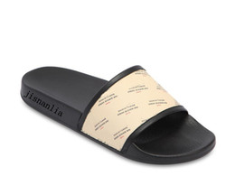 $enCountryForm.capitalKeyWord Australia - 2018ss mens and womens fashion Invite-Stamp-Print Rubber slippers slide sandals boys girls causal beach flip flops