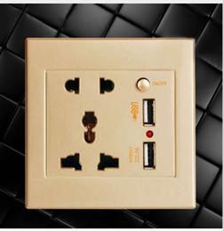 Usb Dc Power Socket Australia - USB Charging With Switch Socket AC   DC Power Plug Power Adapter Socket Panel