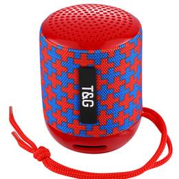 powerful speakers 2018 - TG129 MINI portable wireless bluetooth speaker powerful audio mp3 audio player TF USB FM sound box 10PCS LOT