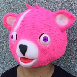 Panda Movies Australia 2018 New Fortnite Mask Cuddle Team Leader Pink Teddy Bear Fuzzy Panda