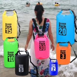 3d1ca422bc9c Outdoor PVC Waterproof Dry Sack Storage Bag Rafting Sports Kayaking  Canoeing Swimming Bag Ocean Pack Travel Kits 2L 3L 5L 10L 20L 30L