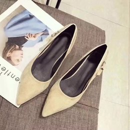 Slide Shoes Ladies Canada - 2018 Summer New Shoes, Lady Sandal ,Women Slides Suede High Heels Pointed Toe High Quality Original Package(Dust bag+box) #324D