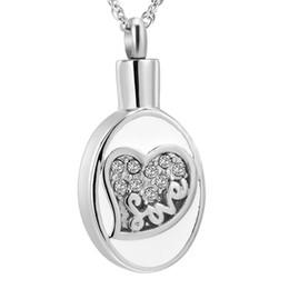 $enCountryForm.capitalKeyWord UK - Cremation Jewelry for Ashes Crystal Teardrop Shape Pendant Necklace Keepsake Funeral Ash Holder Jewelry