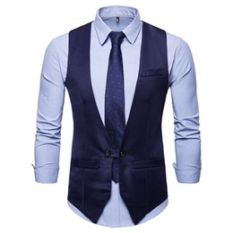 Chinese  Men Suit Vest Tuxedo Waistcoat Solid Wedding Blazers Business Sleeveless Slim Fit Design Formal Dress Jacket Waistcoat Male manufacturers