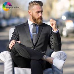 $enCountryForm.capitalKeyWord NZ - Custom Made Men Suits Black Formal Business Slim Fit Groom Tuxedos Wedding Suits for Men Best Man Blazers 2Pieces Jacket Pants