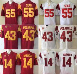 Factory Outlet- NCAA USC Trojans Darnold  14 Seau  55 Polamalu  43 College  Football Jersey stitched l 89f1e5919
