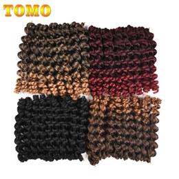 $enCountryForm.capitalKeyWord NZ - TOMO Hair 8Inch 20Strands Jumpy Wand Curl Jamaican Bounce Synthetic Hair For African Braids Crochet Braid Kanekalon Braiding Ombre Brown