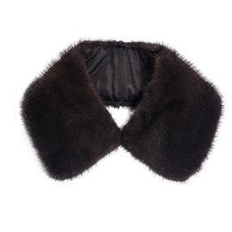 Chinese  Real Mink Fur Men Collar Winter Warm Scarf for Men's Coat Solid Straight Detachable Natural Collar Genuine Real Fur Collar C#26 manufacturers