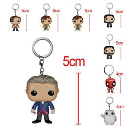 Funko POP Marvel Llavero Super Hero Doctor Who Joker Juego de Tronos Figuras Llavero Toy Cute Cartoon Doll Charms 14 5xx Z