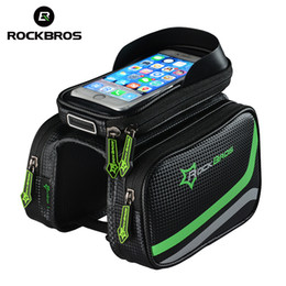 Bike Bags for iphone online shopping - ROCKBROS Bike Bag Reflective Bike Front Bag Waterproof Bicycle Tube Bags Large Capacity MTB Frame Bags For iPhone For Xiaomi