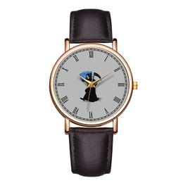 $enCountryForm.capitalKeyWord Australia - Baosaili Brand Classic Black Genuine Leather Watch for Men Roman Numbers Charming Witch Branded Watch Heren horloges B-9189