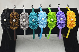 Discount red leaf headband - 10pcs The leaves of flowers of rhinestones headbands strip of hair for women boutique accessories decorative head band F