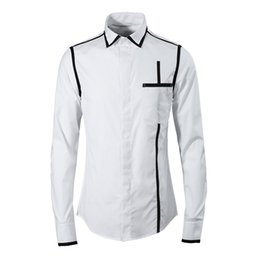 a2b04029543 Brand Shirt Men 2018 High Quality New Cotton Chemise homme Fashion Vertical  line design black white Slim casual shirts plus size